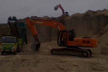 proses muat tanah urug